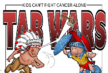 Kids Can't Fight Cancer Alone has declared a Tab War between The Canton Warriors and The Troy Trojans!!!