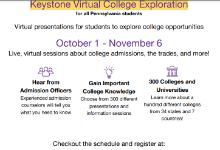 Keystone Virtual College Exploration - Register Soon!